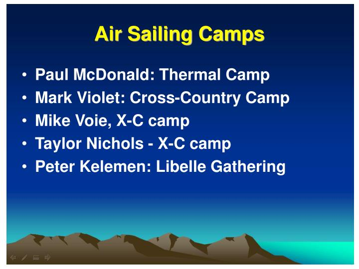 Air Sailing Camps