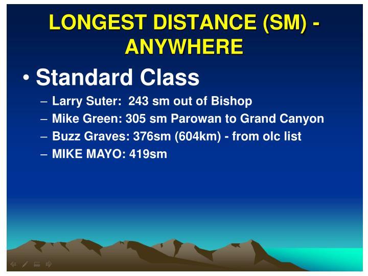 LONGEST DISTANCE (SM) - ANYWHERE