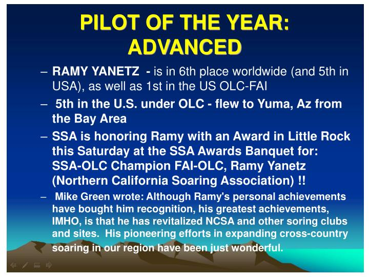 PILOT OF THE YEAR: ADVANCED