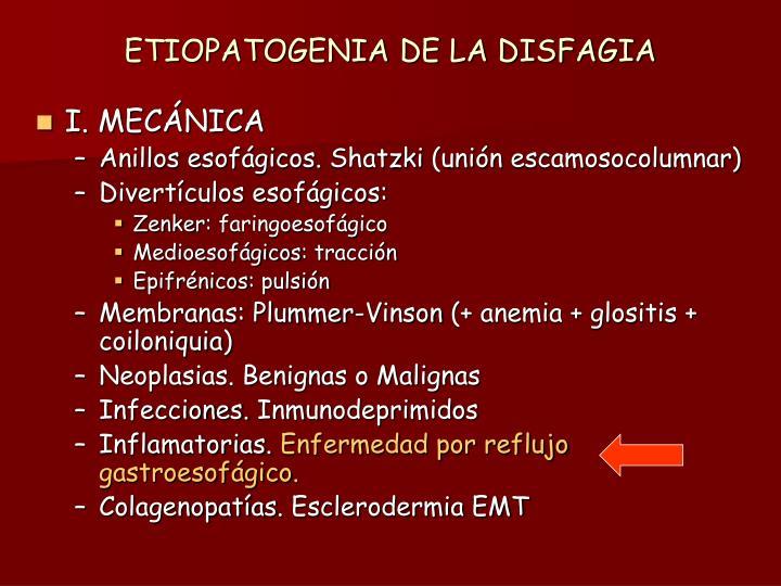 ETIOPATOGENIA DE LA DISFAGIA
