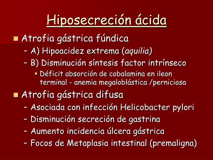 Hiposecreción ácida