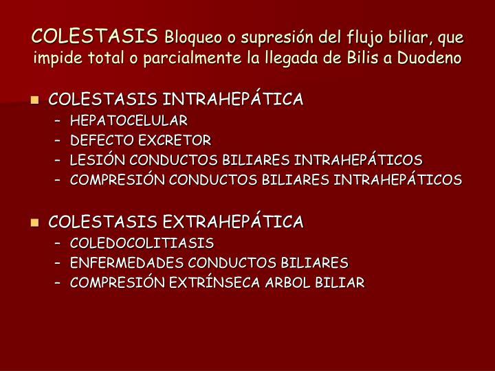 COLESTASIS