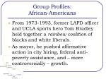 group profiles african americans
