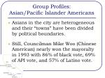 group profiles asian pacific islander americans