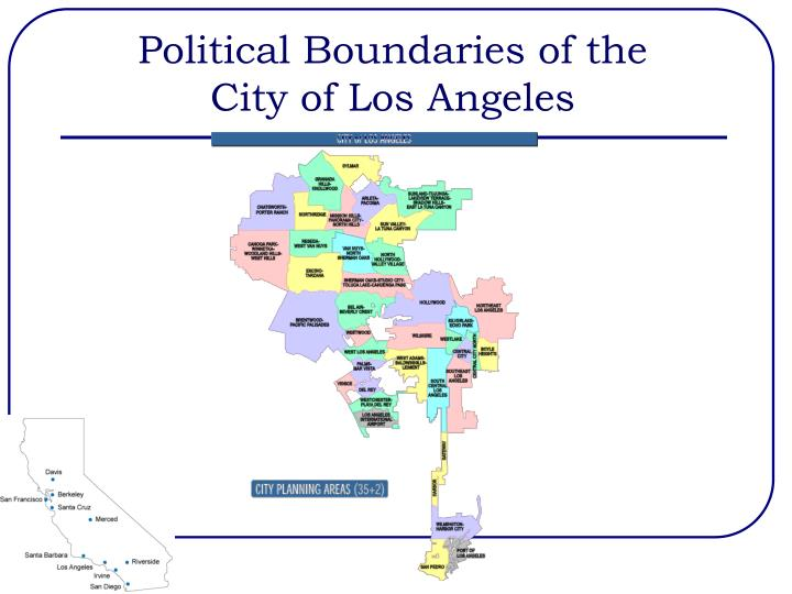 Political boundaries of the city of los angeles