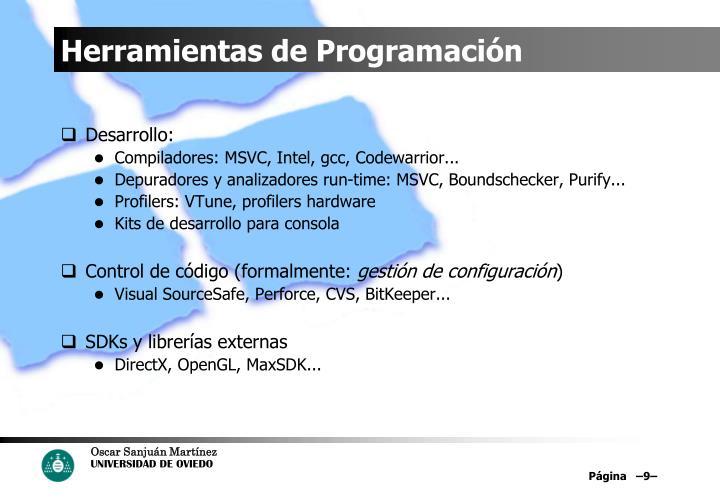 Herramientas de Programación