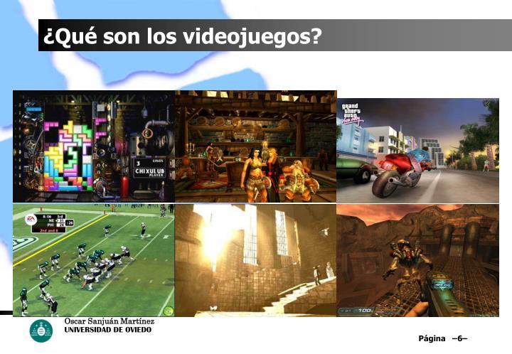 ¿Qué son los videojuegos?