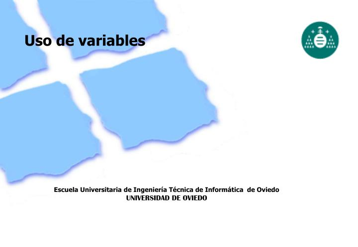 Uso de variables