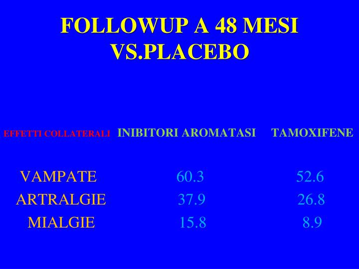 FOLLOWUP A 48 MESI