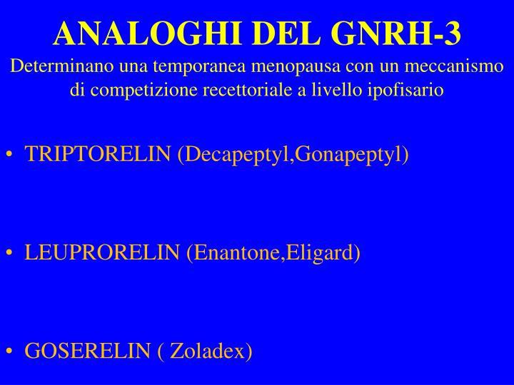 ANALOGHI DEL GNRH-3
