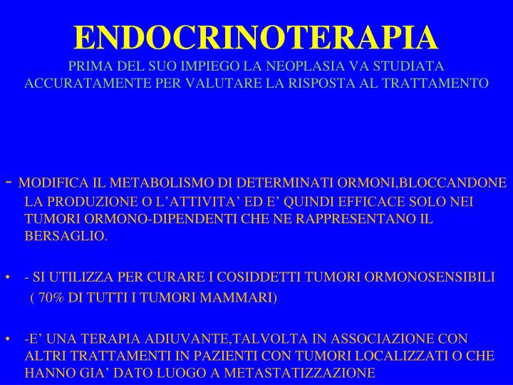 ENDOCRINOTERAPIA