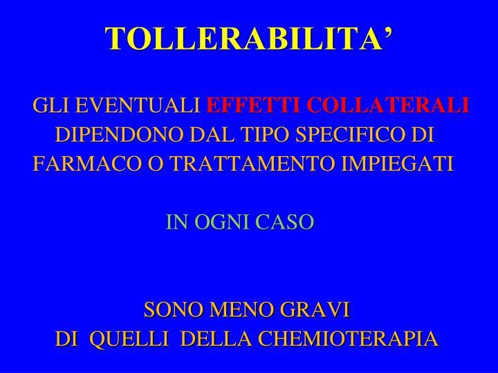 TOLLERABILITA'