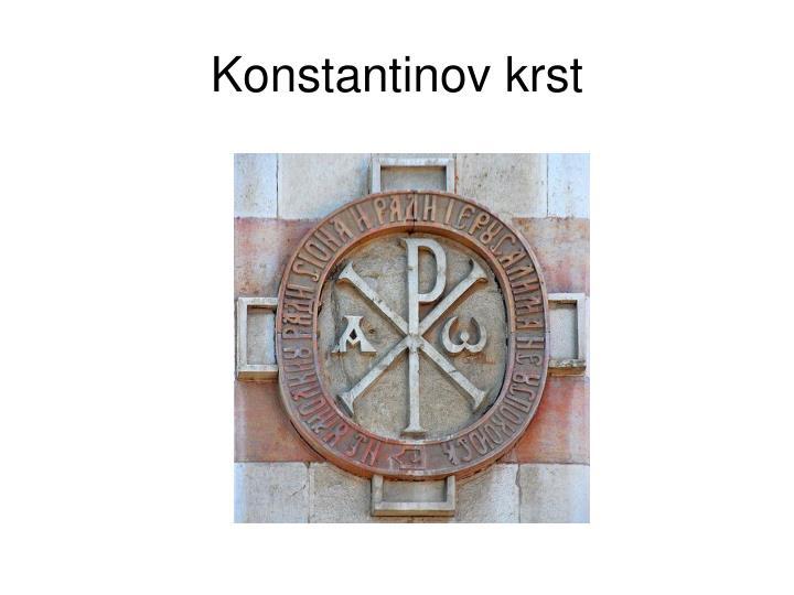 Konstantinov krst