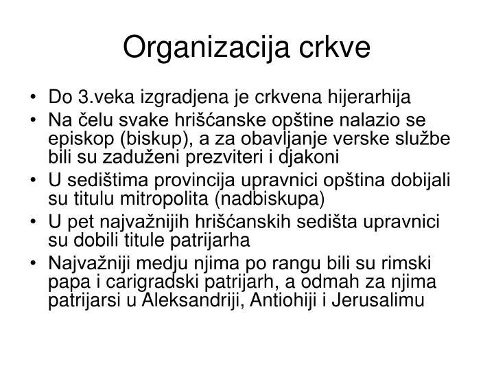 Organizacija crkve