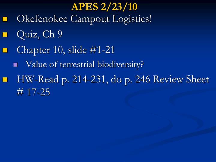 APES 2/23/10
