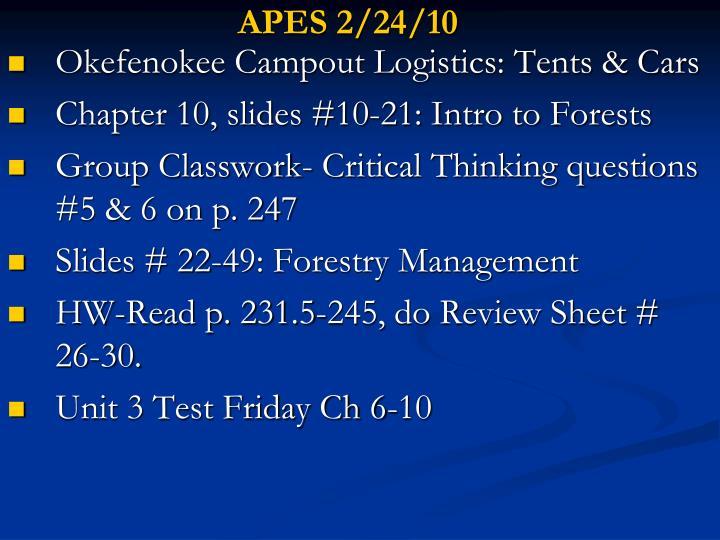 APES 2/24/10