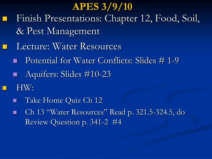 APES 3/9/10