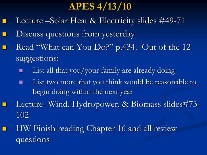 APES 4/13/10