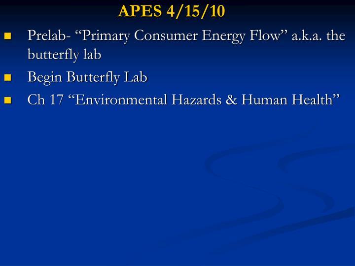 APES 4/15/10