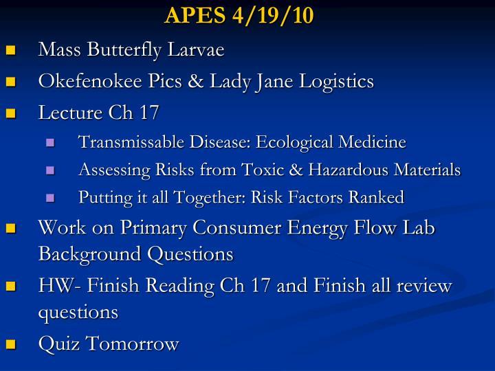 APES 4/19/10