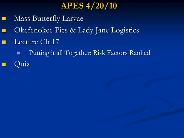 APES 4/20/10