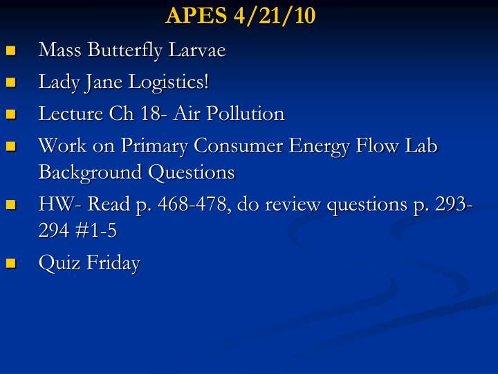 APES 4/21/10