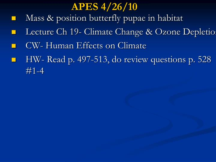APES 4/26/10