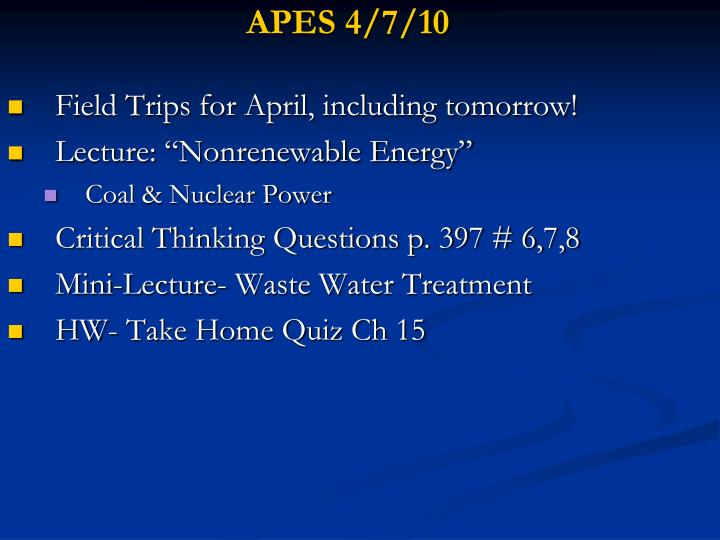 APES 4/7/10