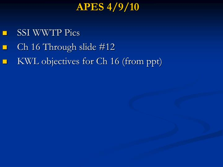 APES 4/9/10