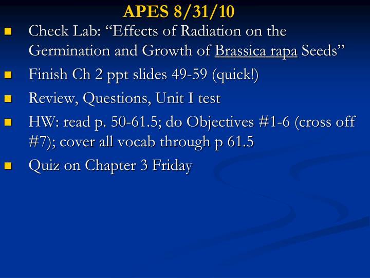 APES 8/31/10