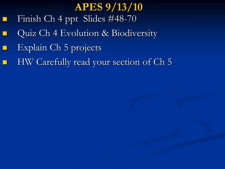 APES 9/13/10