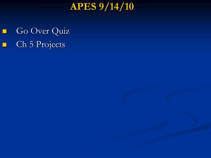 APES 9/14/10