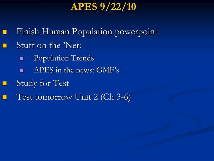 APES 9/22/10