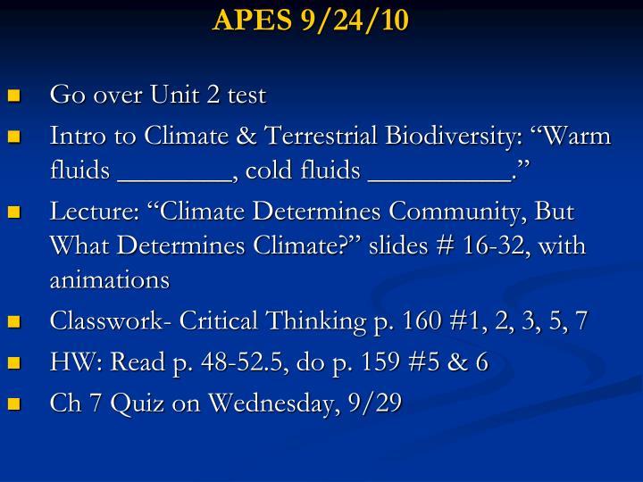 APES 9/24/10