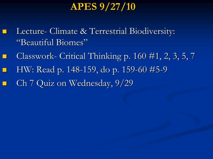APES 9/27/10