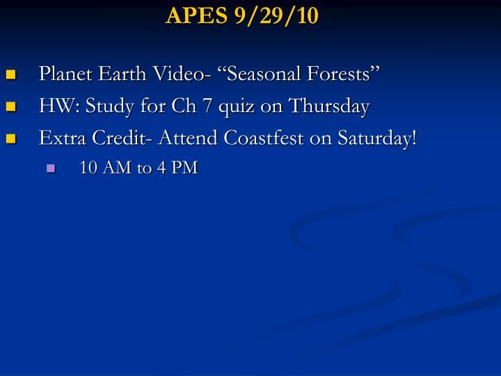 APES 9/29/10