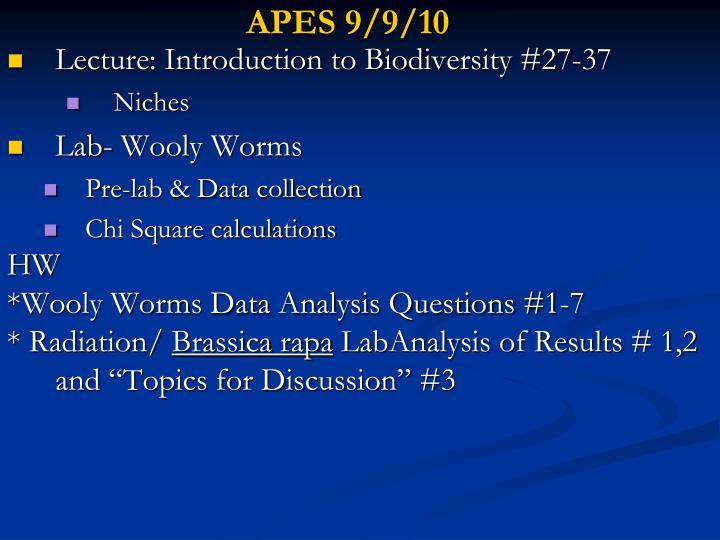 APES 9/9/10