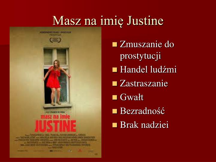 Masz na imię Justine