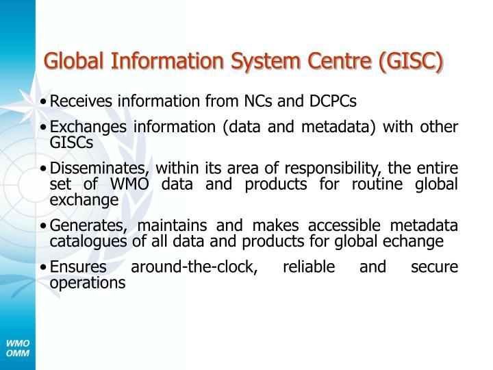 Global Information System Centre (GISC)