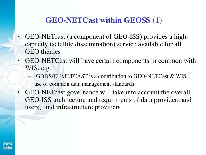 GEO-NETCast within GEOSS (1)