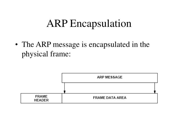 ARP Encapsulation