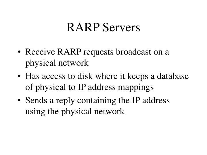 RARP Servers