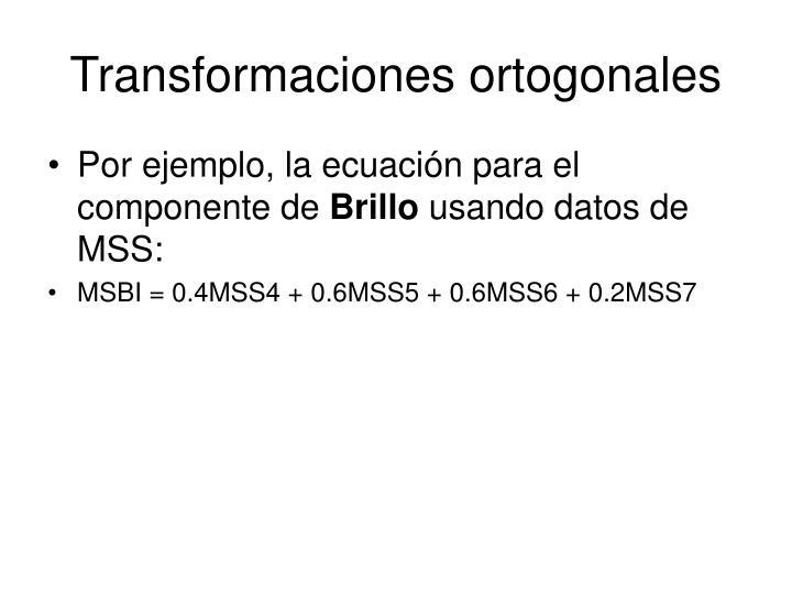 Transformaciones ortogonales