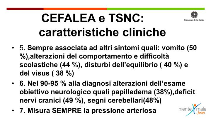 CEFALEA e TSNC: