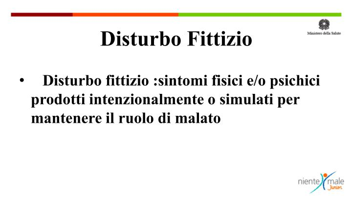 Disturbo Fittizio