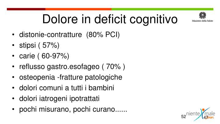 Dolore in deficit cognitivo