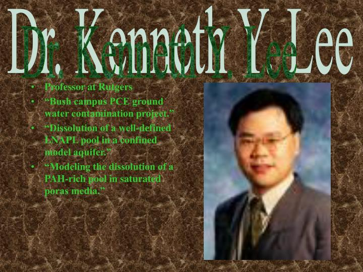 Dr. Kenneth Y. Lee