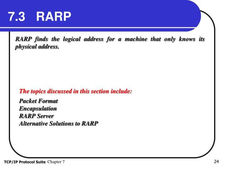 7.3   RARP