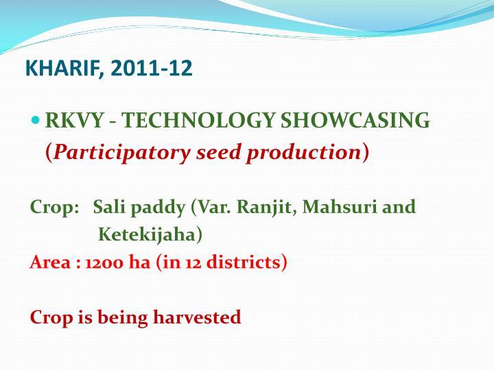 KHARIF, 2011-12