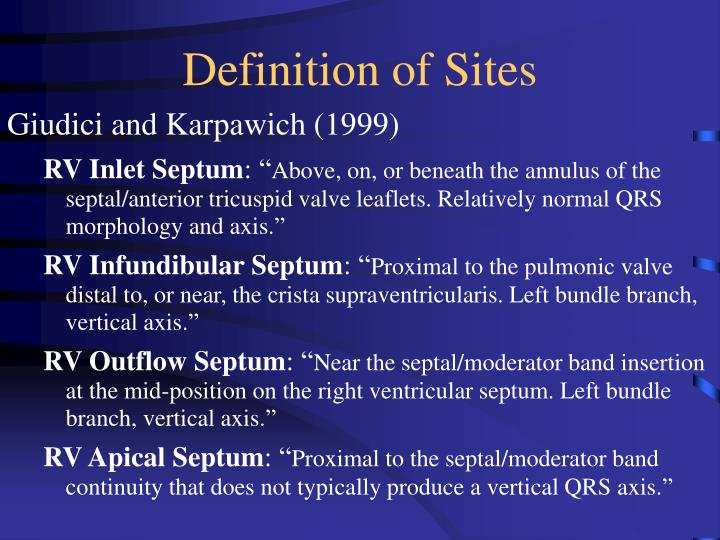 Definition of Sites